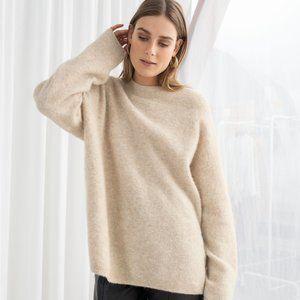 & OTHER STORIES Alpaca Blend Sweater Tan {C20}